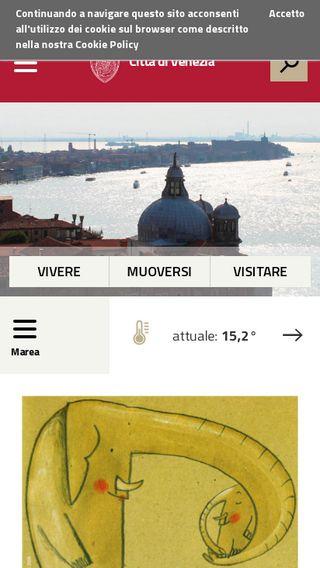 Mobile preview of comune.venezia.it
