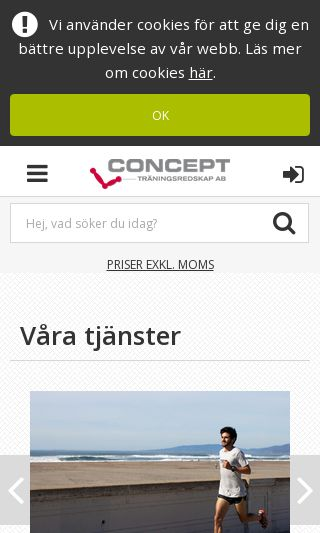 Mobile preview of concept.se