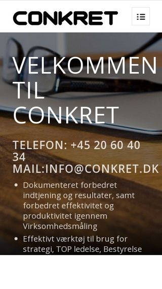 Mobile preview of conkret.dk