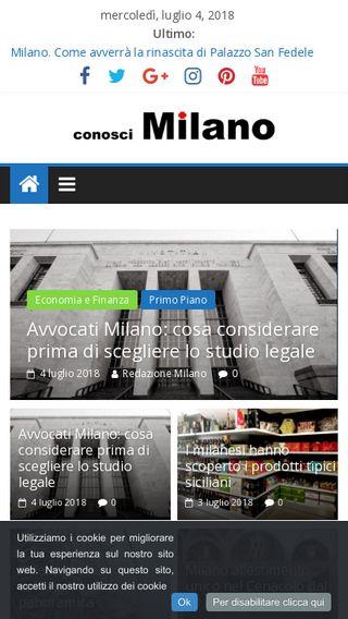Mobile preview of conoscimilano.it