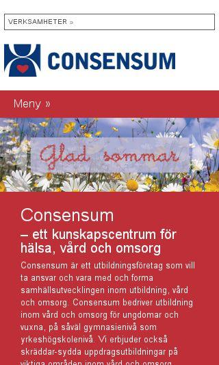 Mobile preview of consensum.se