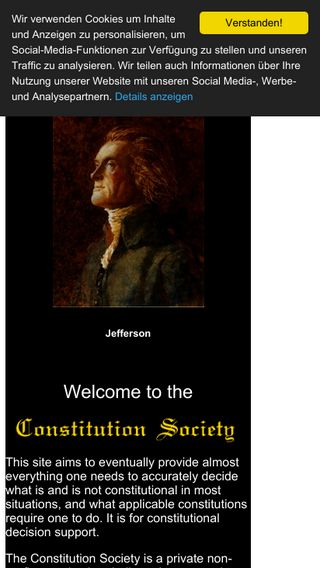 Mobile preview of constitution.org
