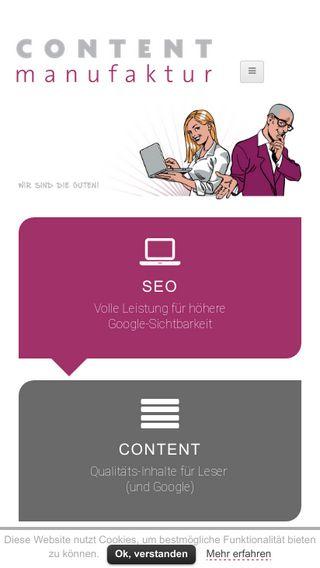 Mobile preview of contentmanufaktur.net