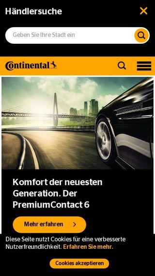 Mobile preview of continental-reifen.de
