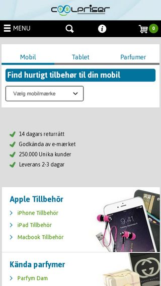Mobile preview of coolpriser.se