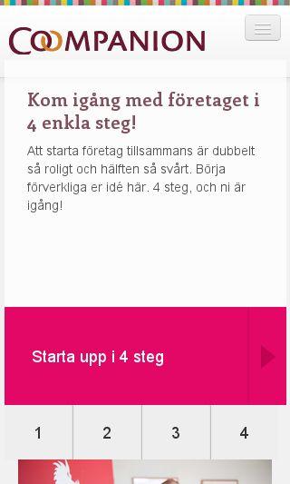Mobile preview of coompanion.se