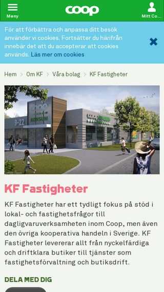Mobile preview of coopfastigheter.se