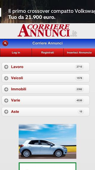 Mobile preview of corriereannunci.it