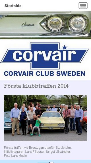 Mobile preview of corvairclubsweden.se