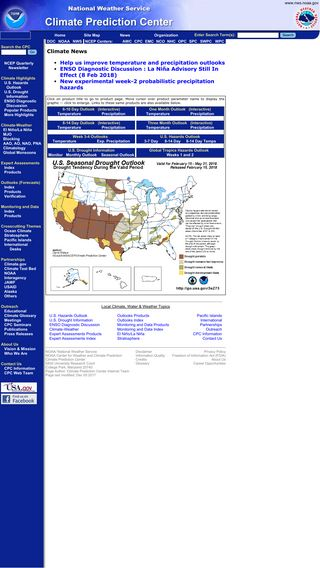 Mobile preview of cpc.ncep.noaa.gov