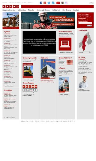 Mobile preview of cramo.se