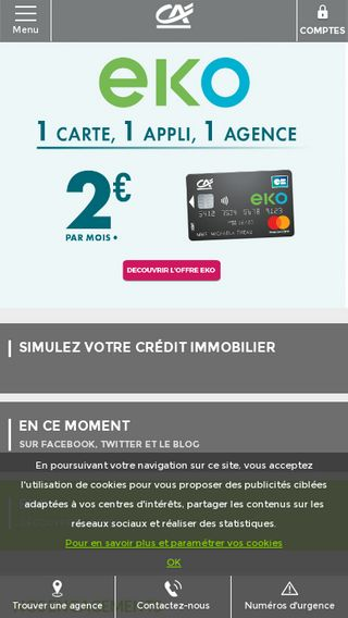 Mobile preview of credit-agricole.fr