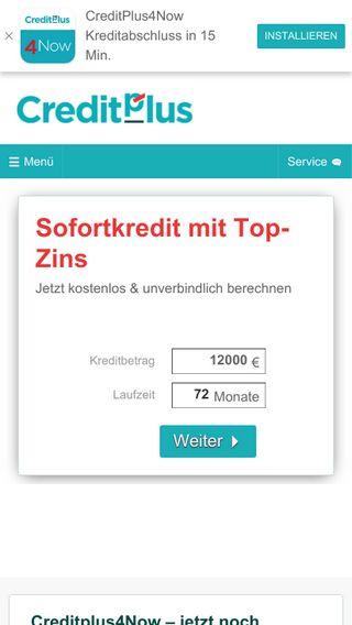 Mobile preview of creditplus.de