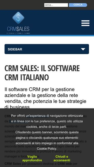 Mobile preview of crmsales.it
