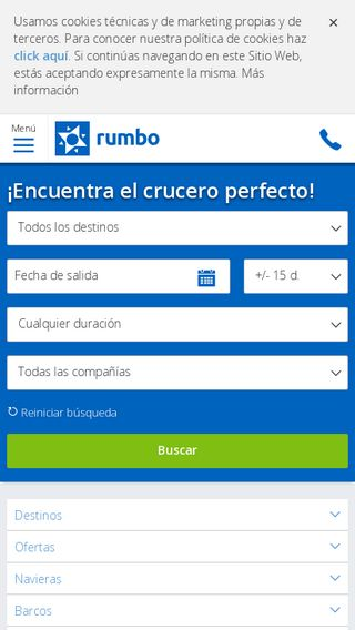Mobile preview of cruceros.rumbo.es