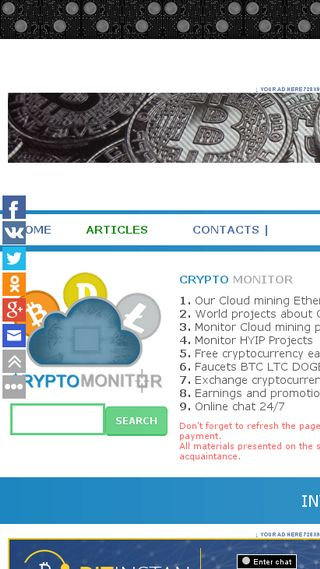 Mobile preview of cryptomonitor.net