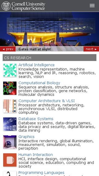 Mobile preview of cs.cornell.edu