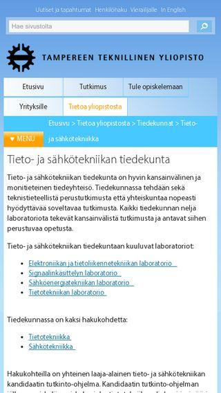 Mobile preview of cs.tut.fi