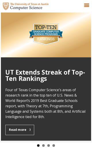 Mobile preview of cs.utexas.edu