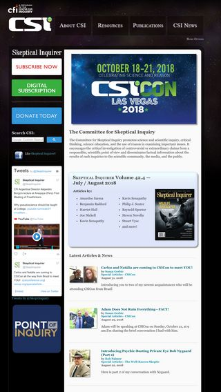 Mobile preview of csicop.org