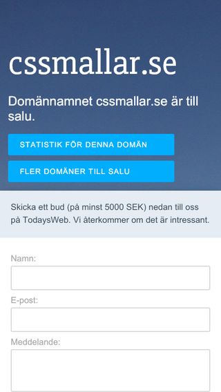 Mobile preview of cssmallar.se