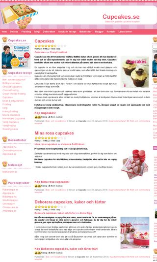 Mobile preview of cupcakes.se