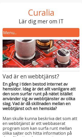 Mobile preview of curalia.se