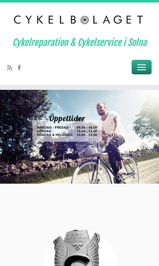 Mobile preview of cykelbolagetab.se