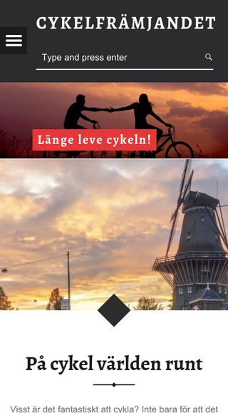 Mobile preview of cykelframjandet.nu