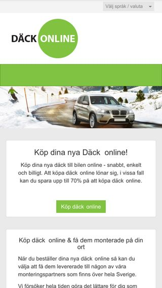Mobile preview of dackonline.com.se