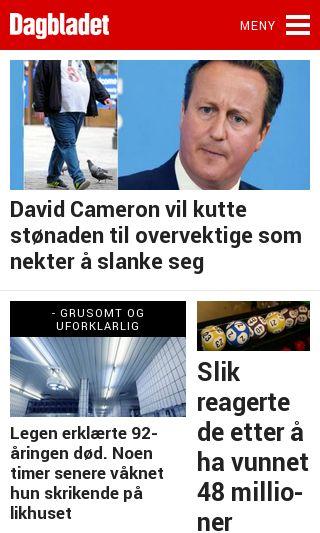 Mobile preview of dagbladet.no