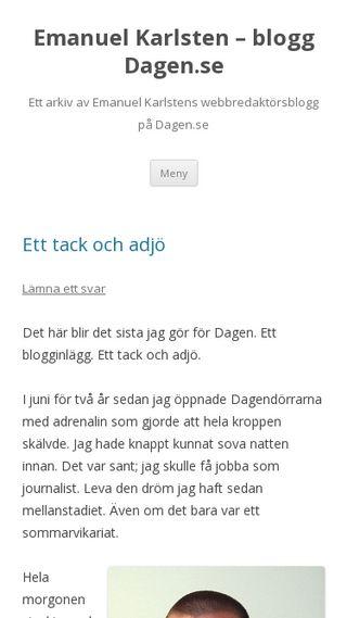Mobile preview of dagen.emanuelkarlsten.se