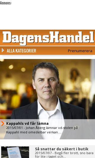Mobile preview of dagenshandel.se