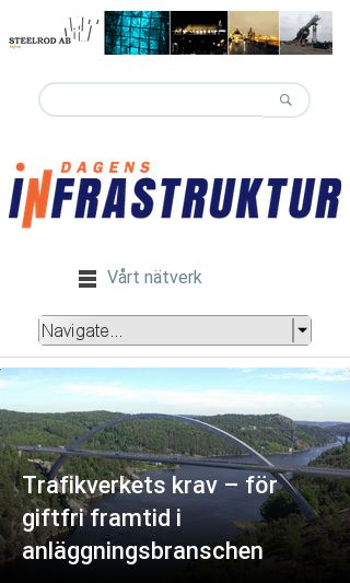 Mobile preview of dagensinfrastruktur.se