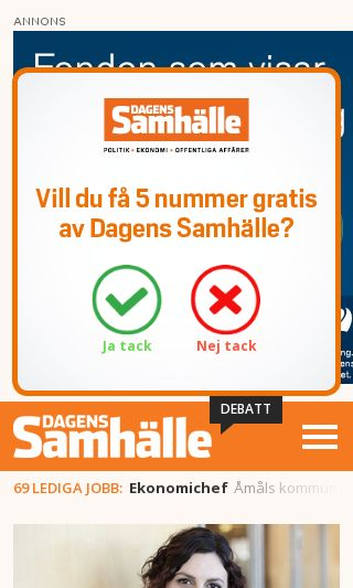 Mobile preview of dagenssamhalle.se