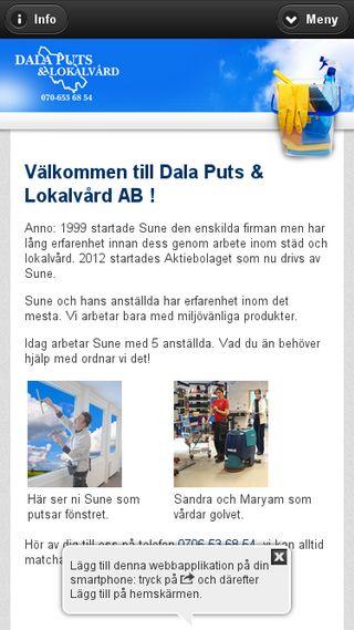 Mobile preview of dalaputsolokalvard.se