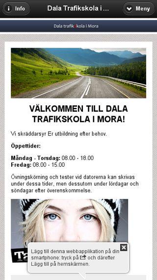 Mobile preview of dalatrafikskola.se