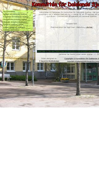 Mobile preview of dalslandssjukhuskommitte.se