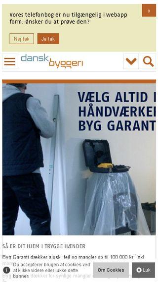 Mobile preview of danskbyggeri.dk