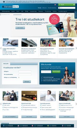 Mobile preview of danskebank.dk
