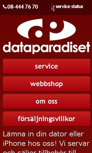 Mobile preview of dataparadiset.se