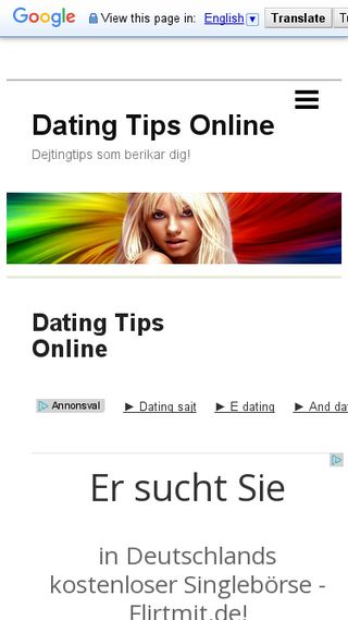Mobile preview of datingtipsonline.n.nu