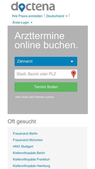 Mobile preview of de.doctena.de