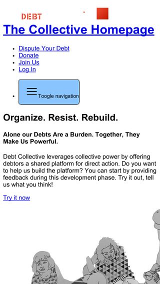 Mobile preview of debtcollective.org