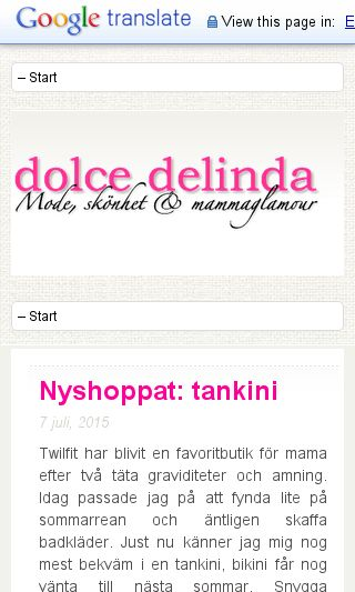Mobile preview of delinda.se