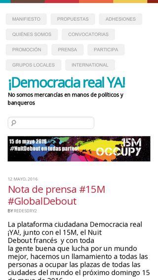 Mobile preview of democraciarealya.es