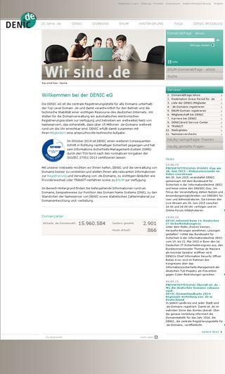 Mobile preview of denic.de