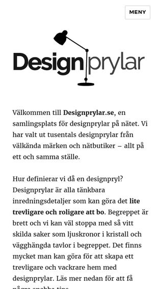 Mobile preview of designprylar.se