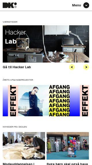 Mobile preview of designskolenkolding.dk