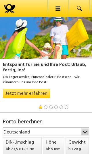 Mobile preview of deutschepost.de
